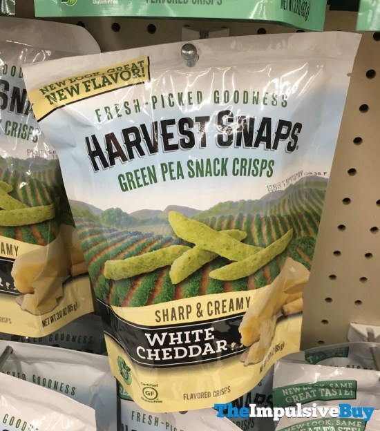 Harvest Snaps White Cheddar Green Pea Snack Crisps