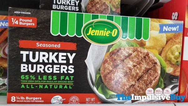 Jennie O All Natural Seasoned Turkey Burgers