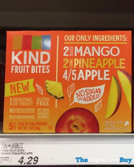 Kind Fruit Bites Mango Pineapple Apple