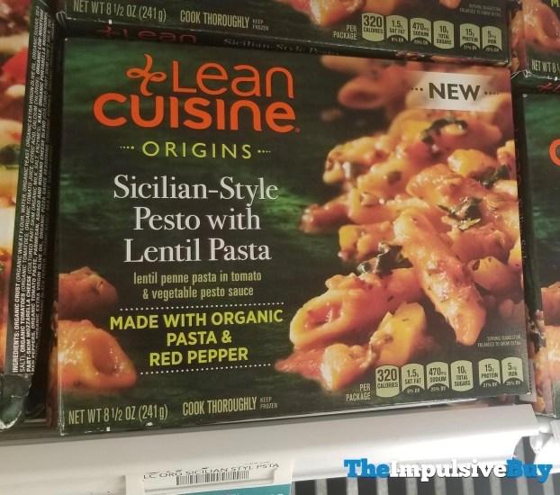 Lean Cuisine Origins Sicilian Style Pesto with Lentil Pasta