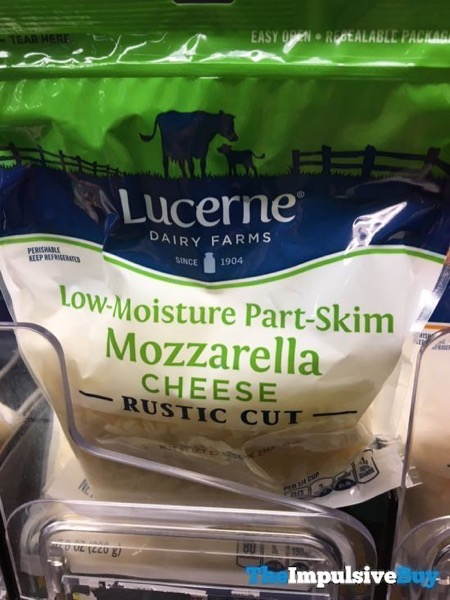 Lucerne Low Moisture Part Skim Mozzarella Cheese Rustic Cut