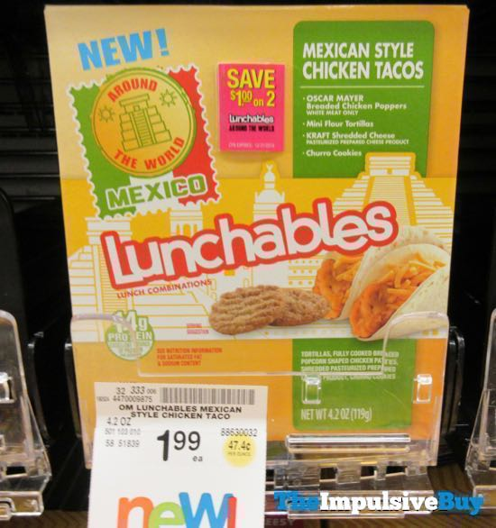 Lunchables Around The World Mexican Style Chicken Tacos