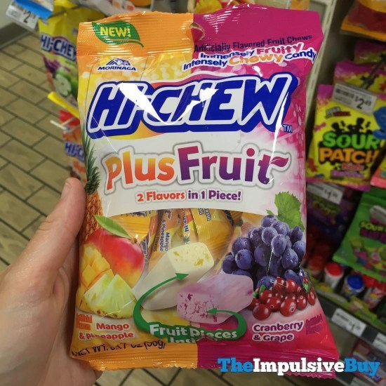 Morinaga Hi Chew Plus Fruit Mango  Pineapple and Cranberry  Grape