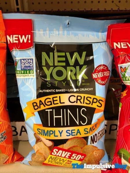New York Style Bagel Crisps Thins Simply Sea Salt