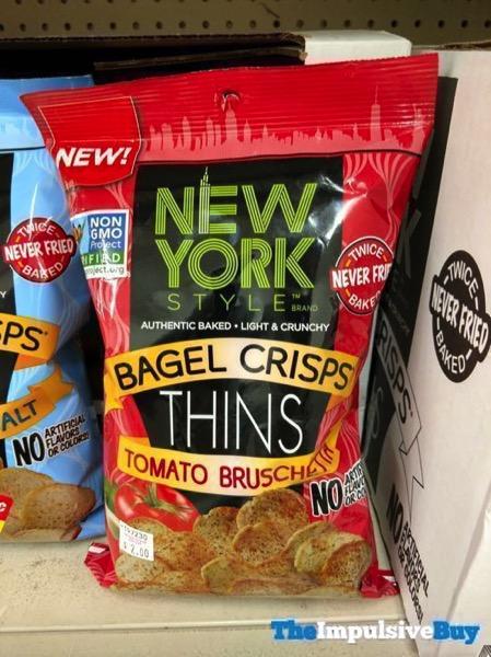 New York Style Bagel Crisps Thins Tomato Bruschetta