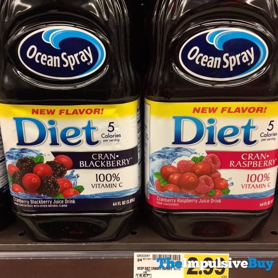 Ocean Spray Diet Cran Blackberry and Cran Raspberry