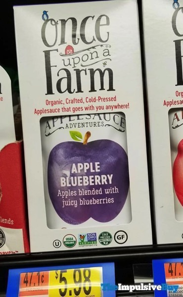 Once Upon a Farm Applesauce Adventures Apple Blueberry