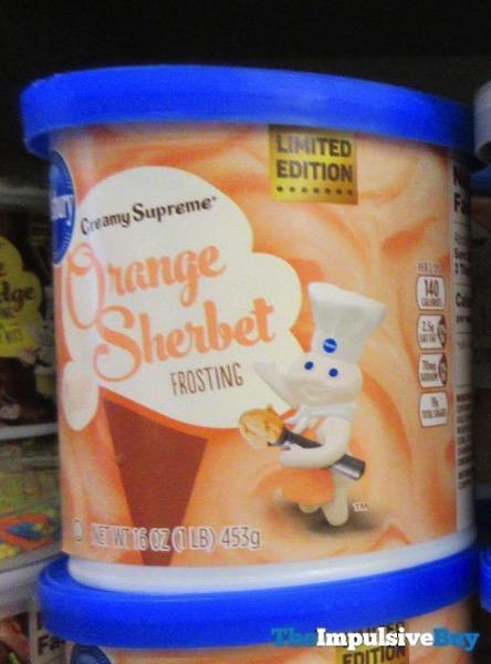Pillsbury Limited Edition Creamy Supreme Orange Sherbet Frosting