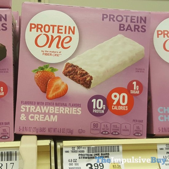Protein One Strawberries  Cream Protein Bars