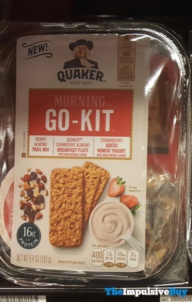 Quaker Morning Go Kit Berry Almond Trail Mix Cranberry Almond Breakfast Flats Strawberry Greek Yogurt