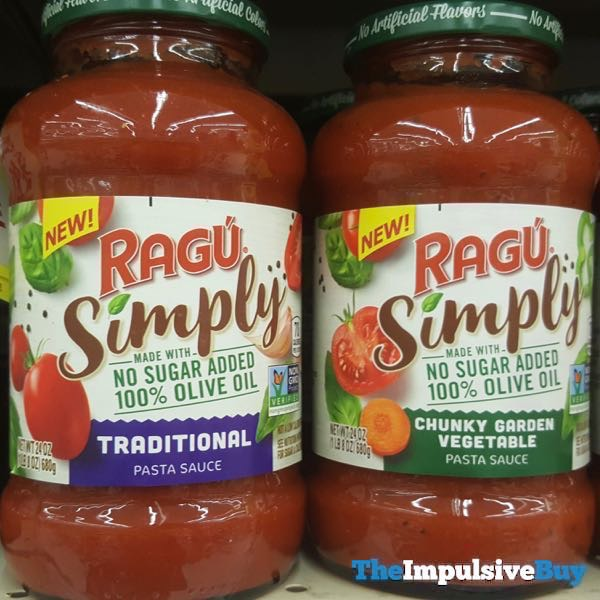 Ragu Simply Pasta Sauce  Traditional and Chunky Garden Vegetable