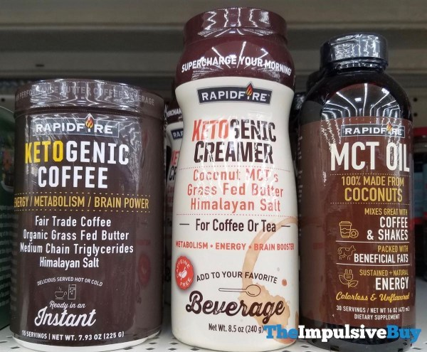 Rapidfire Ketogenic Coffee Ketogenic Creamer and MCT Oil