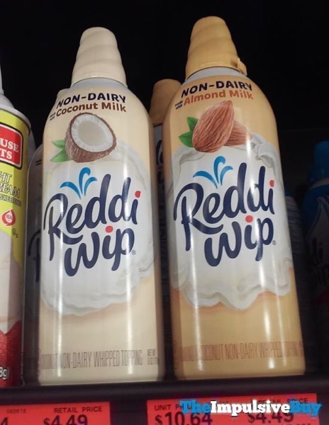 Reddi wip Coconut Milk and Almond Milk Non Dairy Whipped Topping
