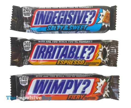 Snickers Salty Sweet Espresso and Fiery Intense Flavors