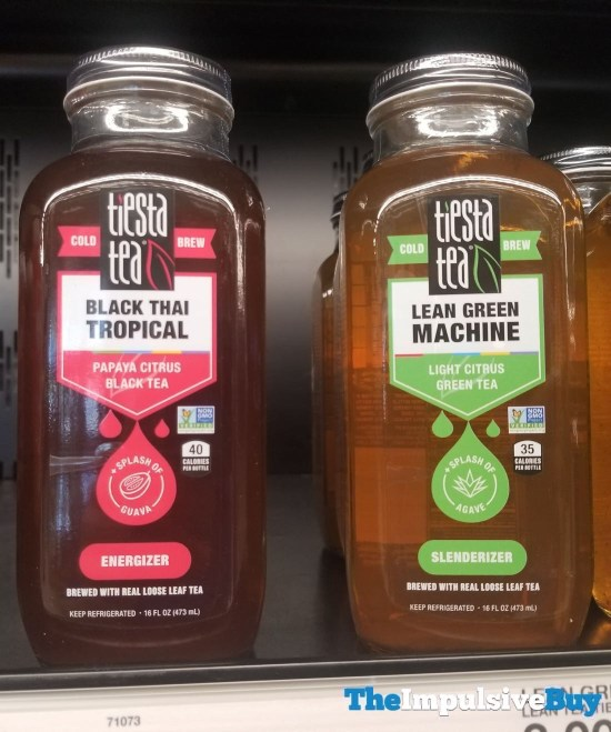 Tiesta Tea Black Thai Tropical Black Tea and Lean Green Machine Green Tea