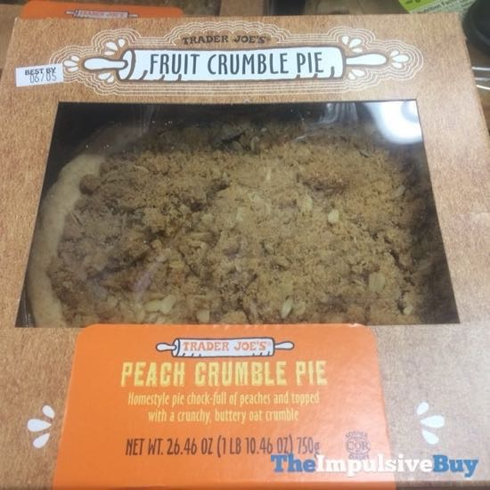 Trader Joe s Peach Crumble Pie