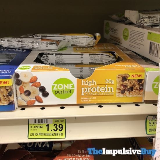 Zone Perfect High Protein Banana Nut Crunch Bar