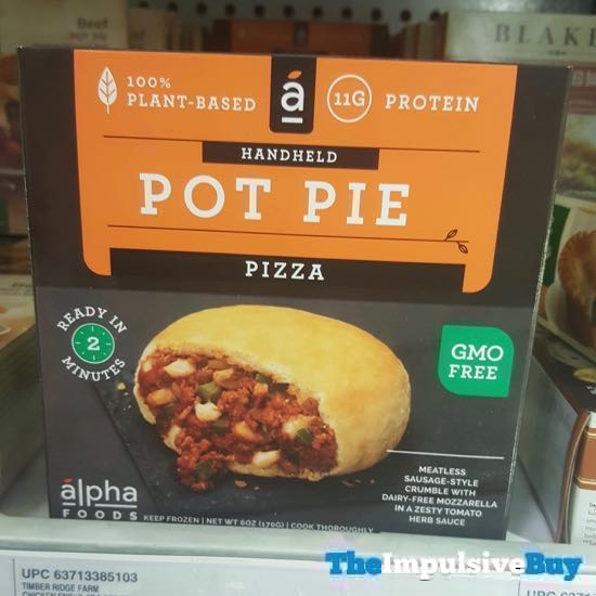 Alpha Foods Pizza Handheld Pot Pie