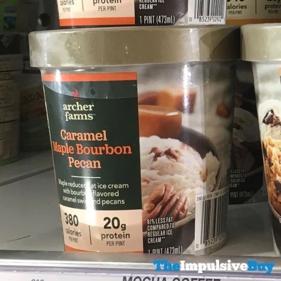 Archer Farms Caramel Maple Bourbon Pecan Reduced Fat Ice Cream