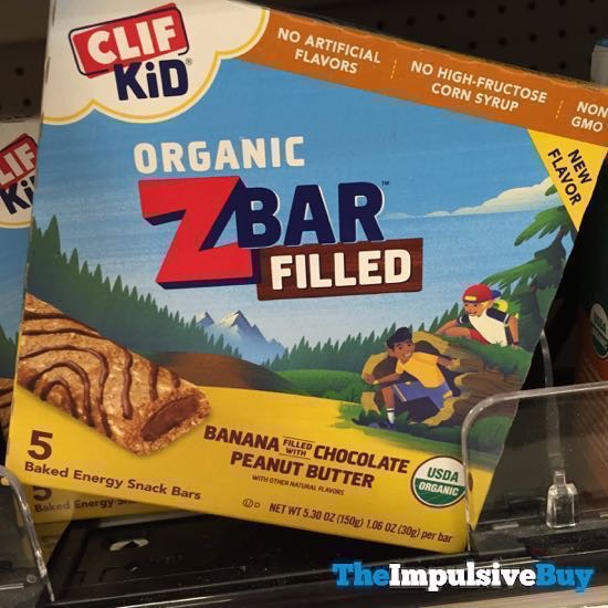 Clif Kid Organic ZBar Filled Banana Filled with Chocolate Peanut Butter