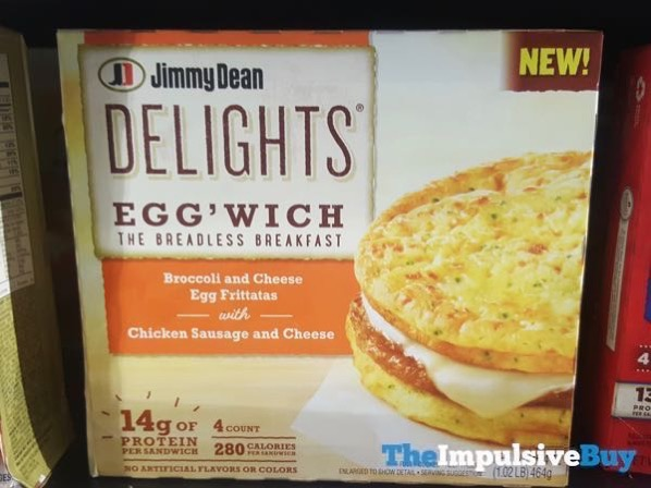 Jimmy Dean Delights Egg wich Broccoli and Cheese Egg Frittatas with Chicken Sausage and Cheese