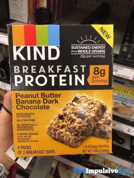 Kind Peanut Butter Banana Dark Chocolate Breakfast Protein Bars