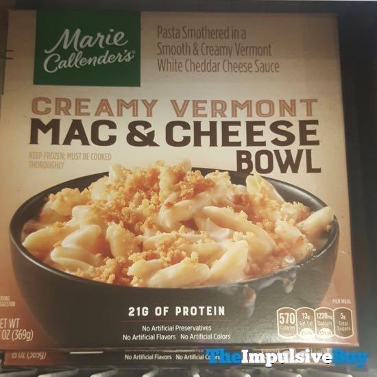 Marie Callender s Creamy Vermont Mac  Cheese Bowl