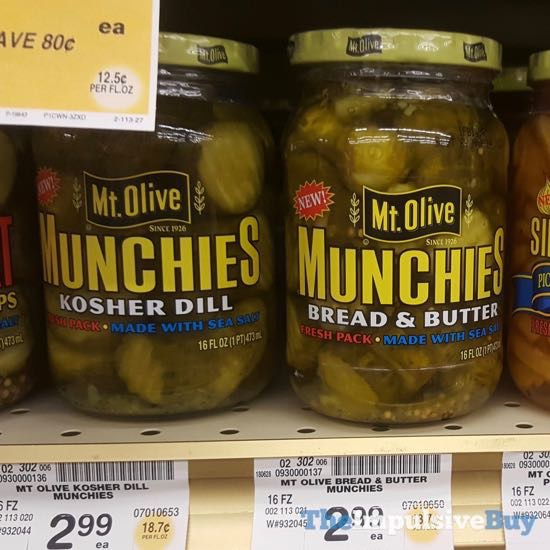 Mt Olive Munchies  Kosher Dill and Bread  Butter
