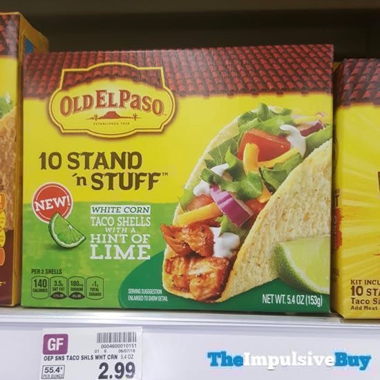 Old El Paso Stand n Stuff White Corn Taco Shells with a Hint of Lime
