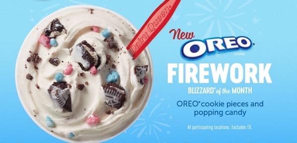 Oreo Firework Blizzard