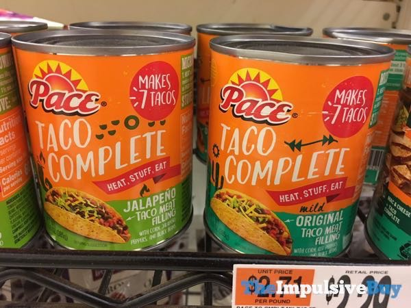 Pace Taco Complete Taco Meat Filling  Jalapeno and Original