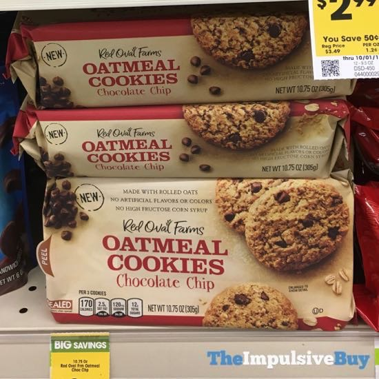 Red Oval Farms Chocolate Chip Oatmeal Cookies