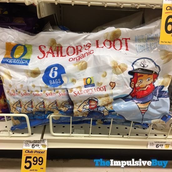 Safeway Organics Sailor s Loot White Cheddar Baked Corn  Rice Puffs 6 Pack
