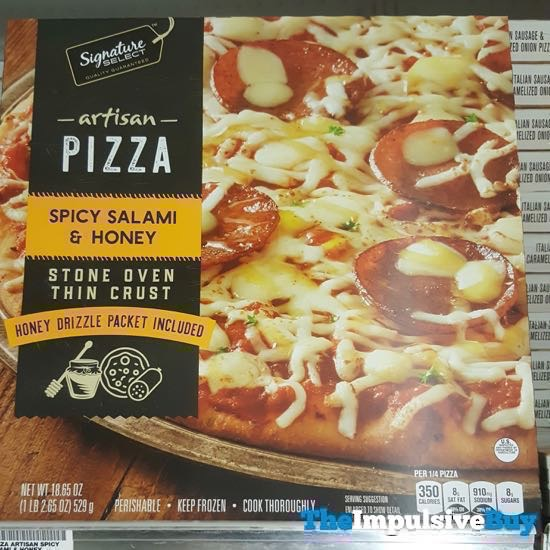 Safeway Signature Select Spicy Salami  Honey Artisan Pizza