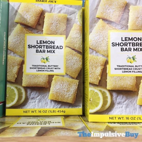 Trader Joe s Lemon Shortbread Bar Mix