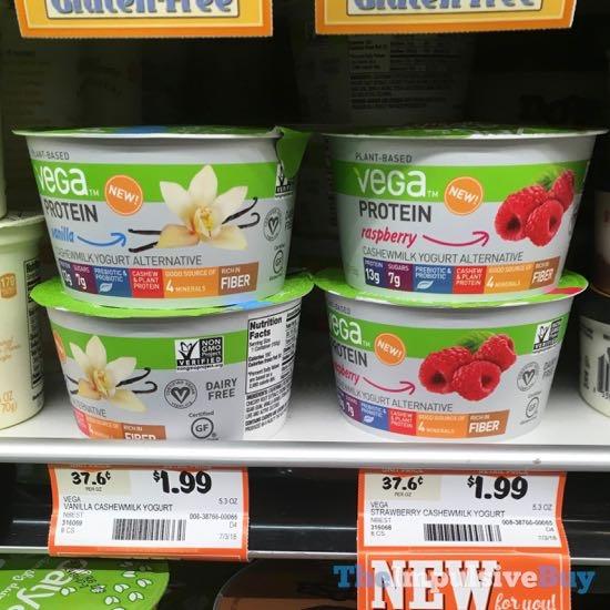 Vega Protein Cashewmilk Yogurt Alternative  Vanilla and Raspberry