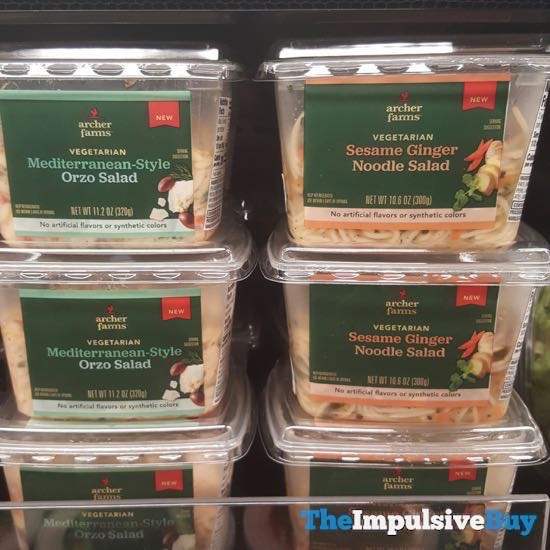 Archer Farms Mediterranean Style Orzo and Sesame Ginger Noodle Salads
