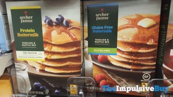 Archer Farms Protein Buttermilk and Gluten Free Buttermilk Pancake  Waffle Mixes