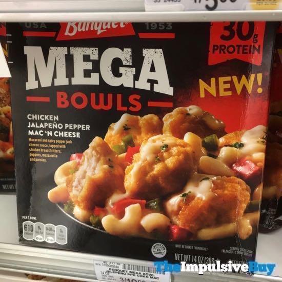 Banquet Mega Bowls Chicken Jalapeno Pepper Mac  N Cheese