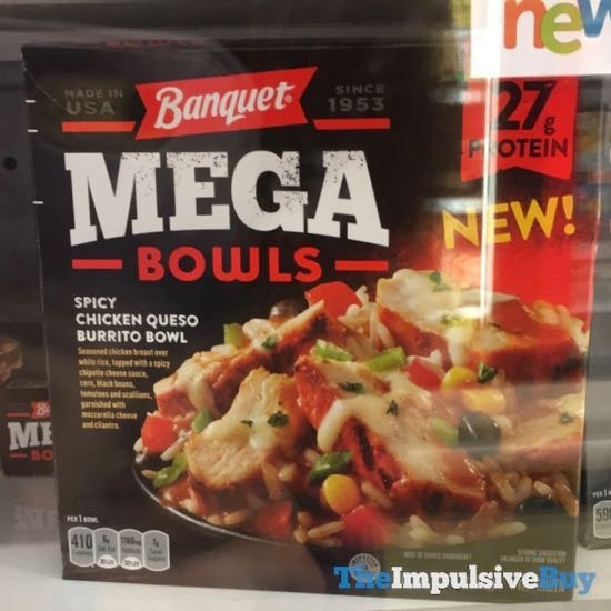 Banquet Mega Bowls Spicy Chicken Queso Burrito Bowl