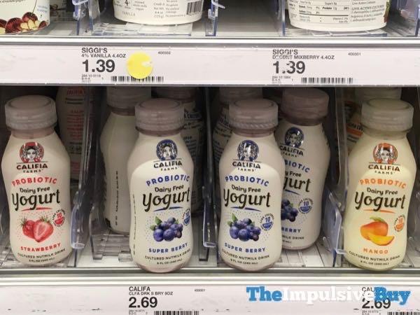 Califia Probiotic Dairy Free Yogurt Drink  Strawberry Super Berry and Mango
