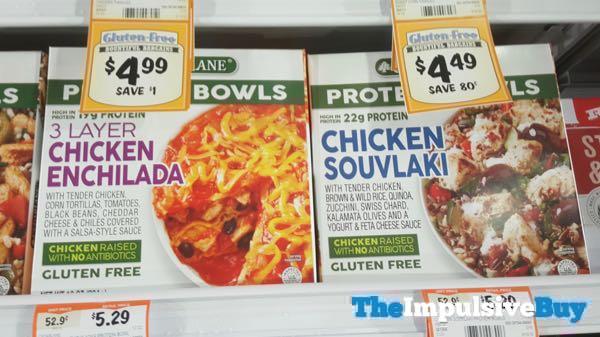 Cedar Lane Protein Bowls  3 Layer Chicken Enchilada and Chicken Souvlaki