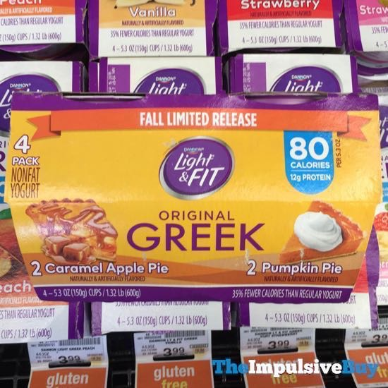 Dannon Light  Fit Fall Limited Release Multi Pack Original Greek Yogurt