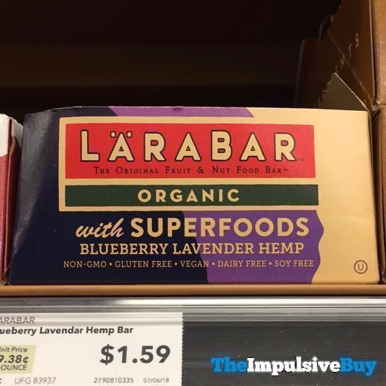 Larabar with Superfoods Blueberry Lavender Hemp