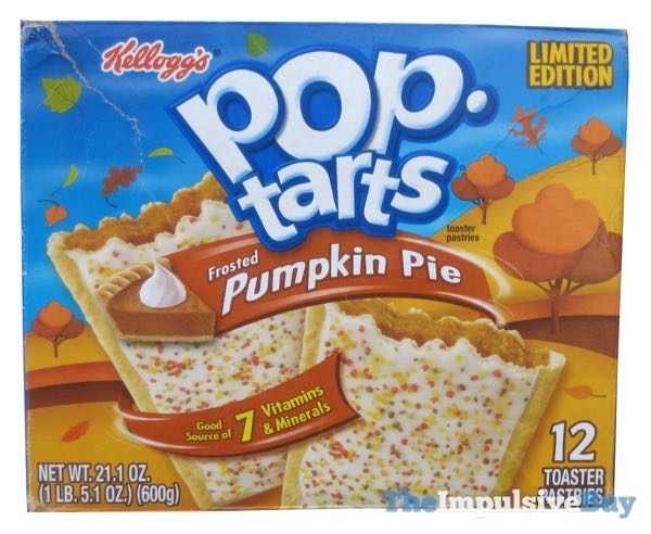 Limited Edition Frosted Pumpkin Pie Pop Tarts  2010 Deslgn