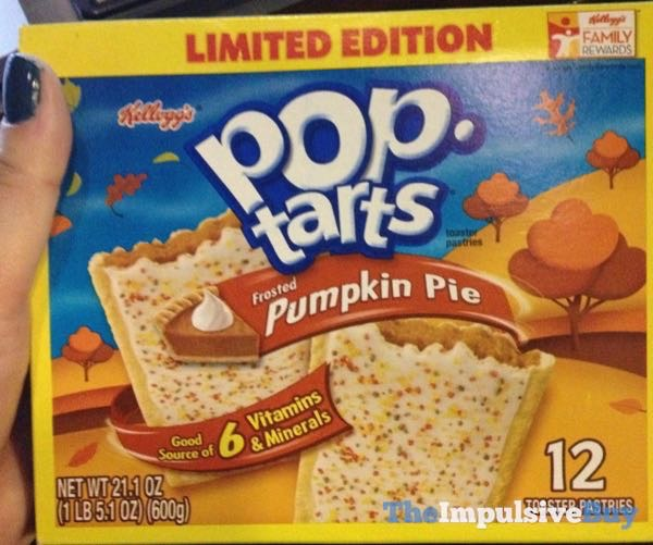Limited Edition Frosted Pumpkin Pie Pop Tarts  2011 Design
