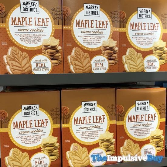 Market District Maple Leaf Creme Cookies