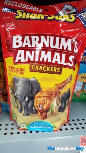 Nabisco Barnum s Animals Crackers 2018 Bag Design