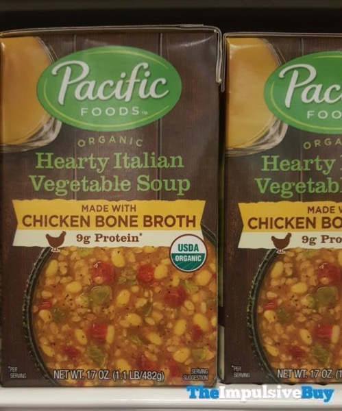 Pacific Food Organic Hearty Italian Vegetable Soup Made with Chicken Bone Broth
