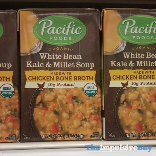 Pacific Foods Organic White Bean Kale  Millet Soup Made with Chicken Bone Broth